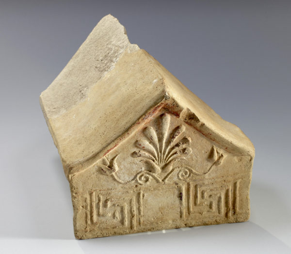 east greek terracotta model of antefix