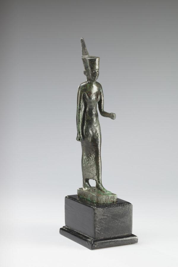 Egytian bronze figure of goddess neith
