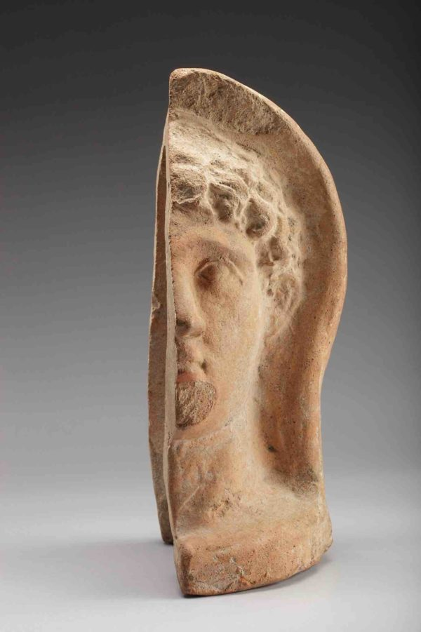 etruscan terracotta votive half-head