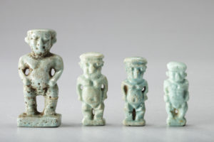 four blue green faience patakes-soker