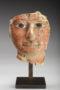 Egyptian cartonnage fragment of mummy mask