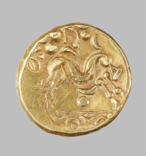 GALLO-BELGIC. AMBIANI, AV STATER, 58-50 BC rev