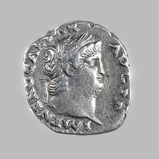 NERO, 54-68 AD. DENARIUS, ROME, 66-67 AD