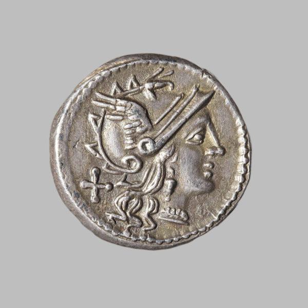 C. MAIANVS, DENARIUS, ROME 153 BC