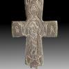 BYZANTINE BRONZE CROSS-HALF OF VIRGIN MARY