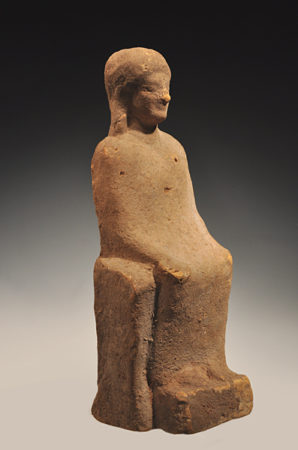 large terracotta seated goddess-1