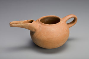 NORTH WEST IRAN, TERRACOTTA SPOUTED VESSEL