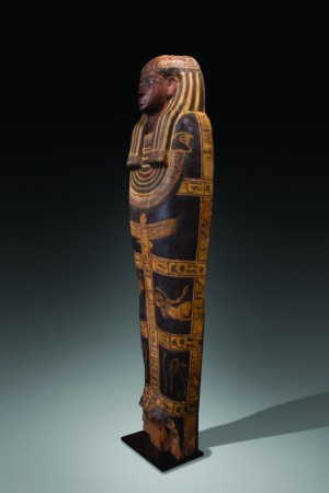 polychrome wood sarcophagus right side