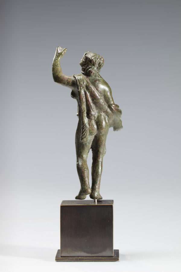 roman bronze figure of hercules|