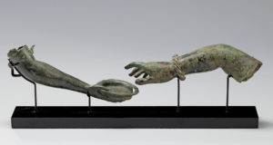roman bronze arms