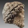 roman limestone relief fragment of marcus aurelius, 161-180 ad