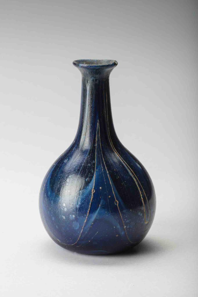 157. ROMAN MARBLED BLUE UNGUENTARIUM