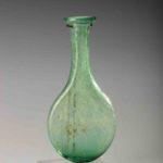 roman small blue-green pilgrim flask
