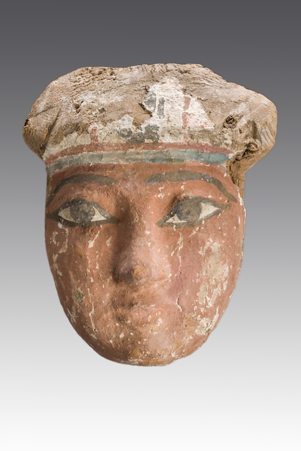 polychrome wood sarcophagus mask