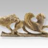 tarentine gilded terracota animal relief