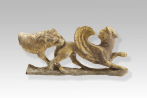 tarentine gilded terracota animal relief
