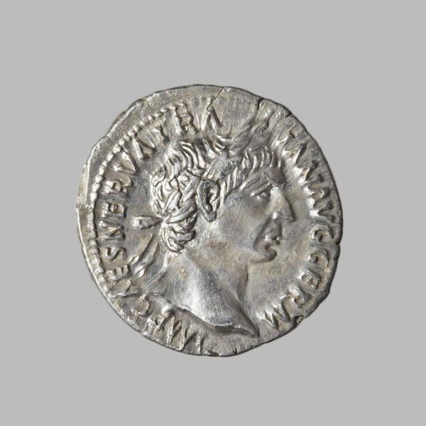 TRAIANUS, 98-117 AD, DENARIUS, ROME 100 AD